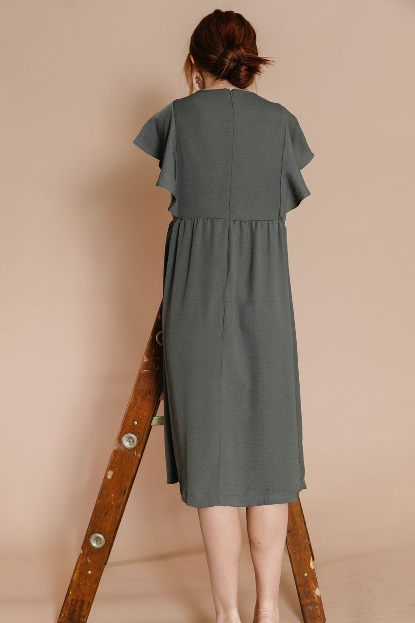 Bates Dress in Olive