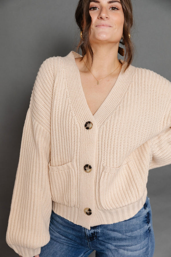 Bette Cardigan in Champagne