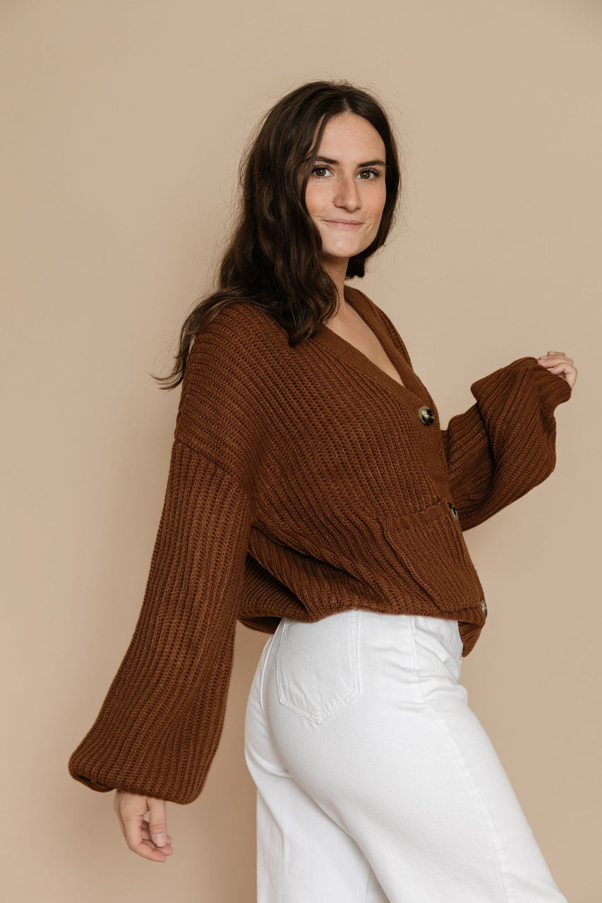 Bette Cardigan in Pecan