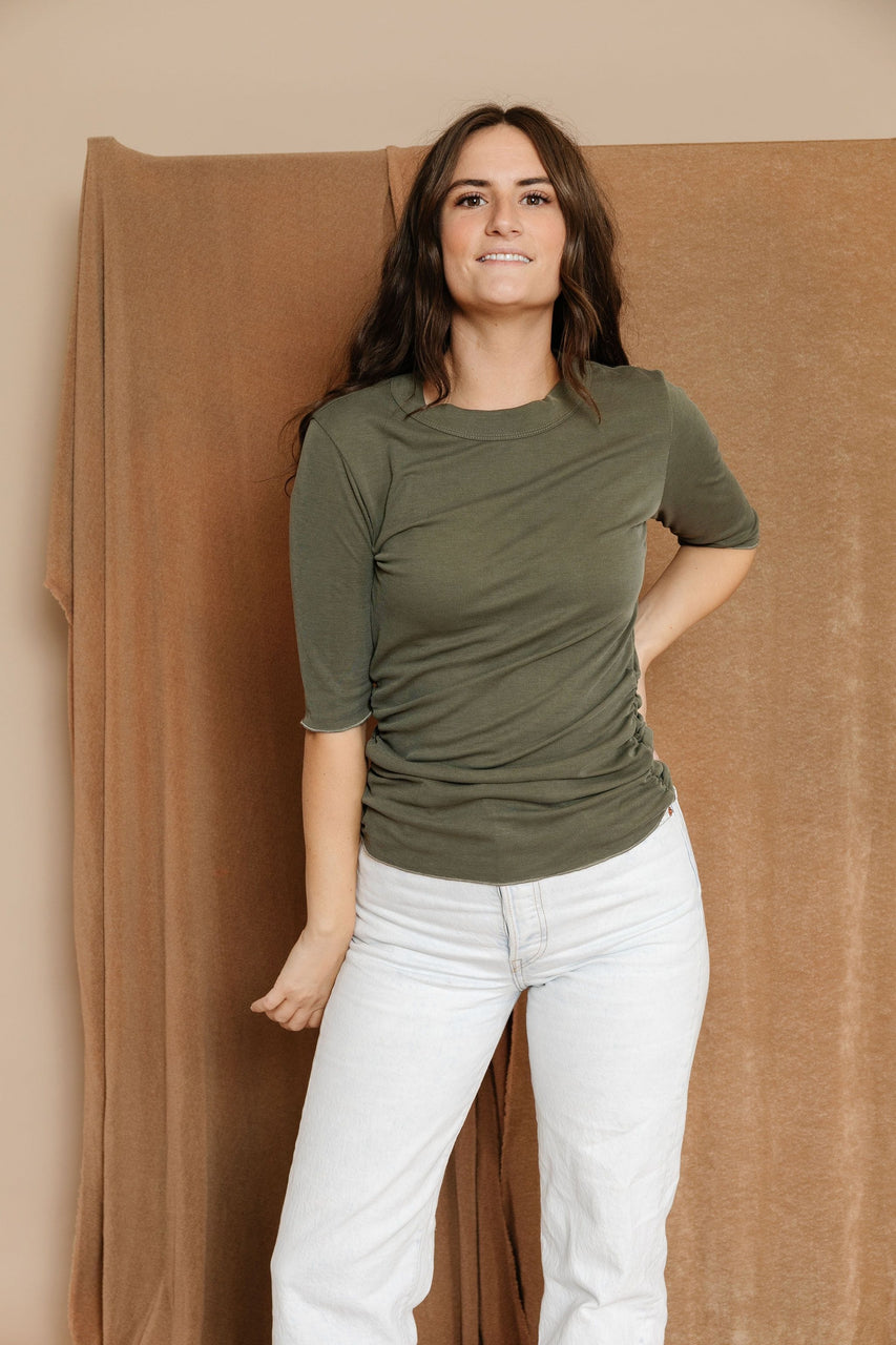 Bianca Tee in Olive