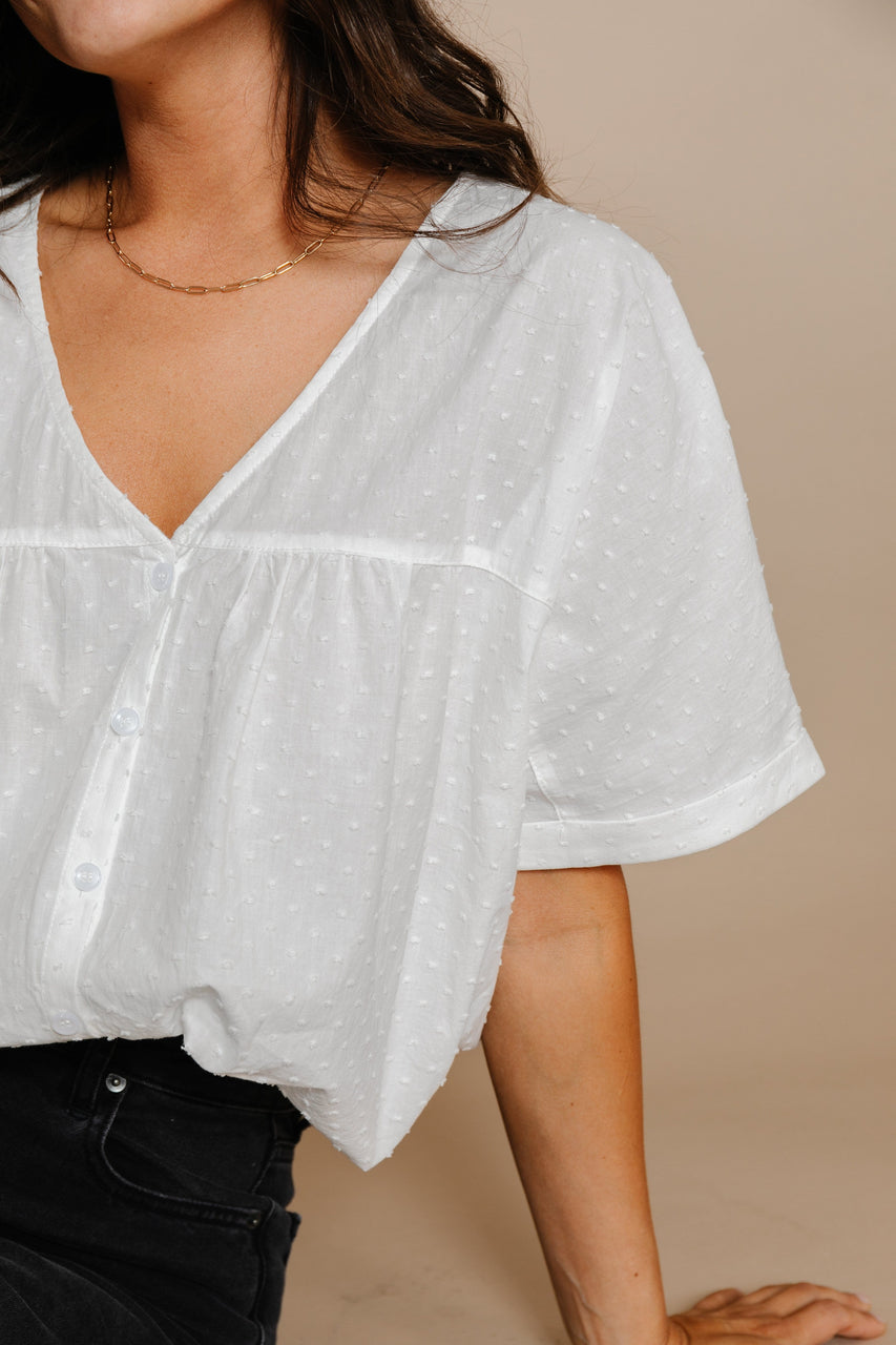 Danielle Blouse in Ivory
