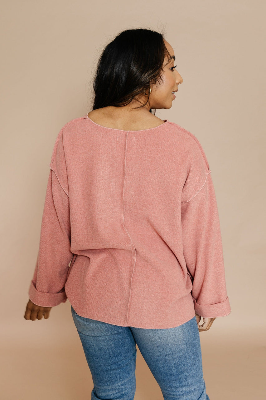 Debbie Sweater in Secret Coral