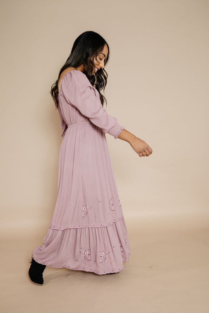 Ella Dress in Dusty Mauve