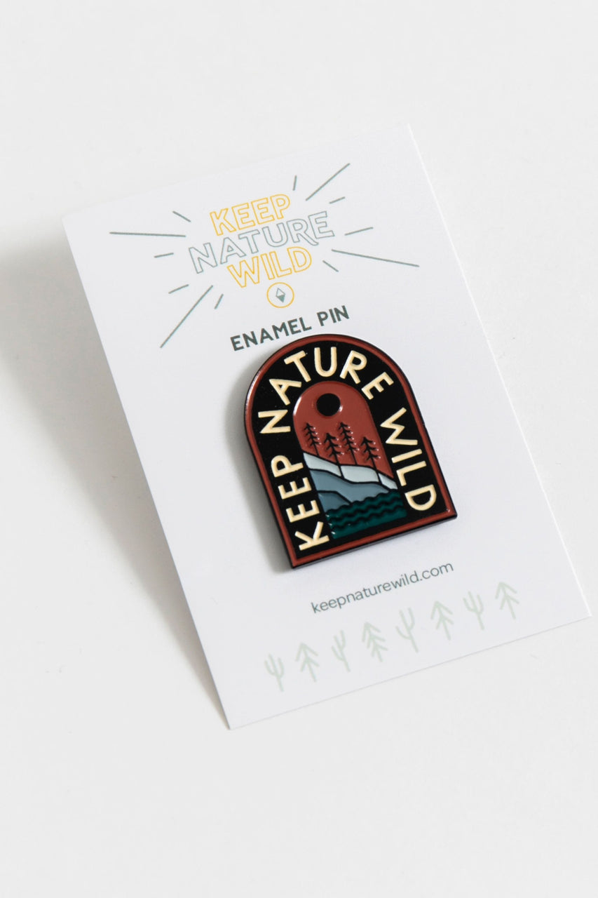 Keep Nature Wild Enamel Pin