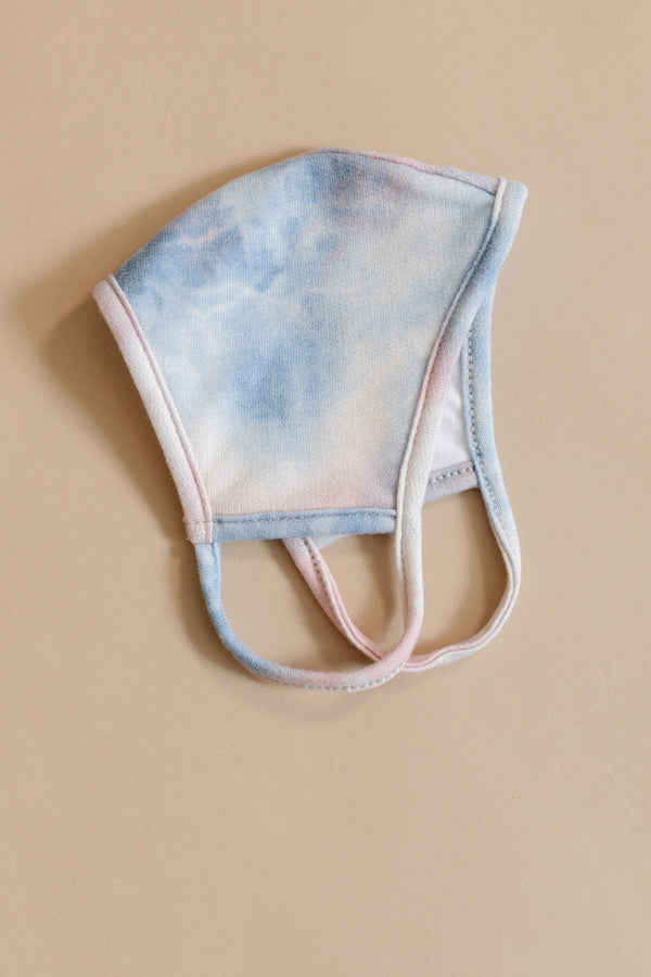 Face Mask Tie Dye in Blue