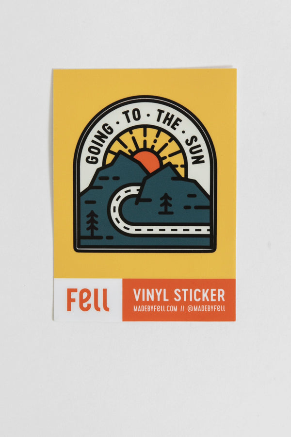 Fell Going to the Sun Vinyl Sticker
