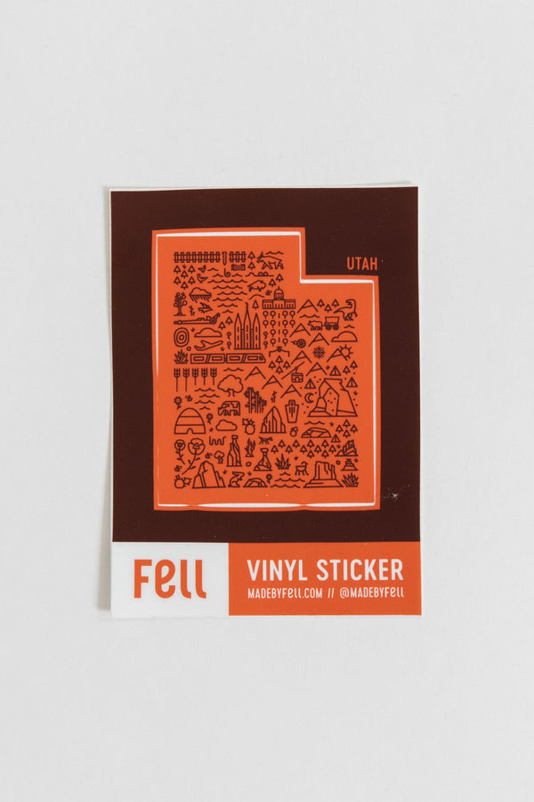 Fell Utah Map Vinyl Sticker