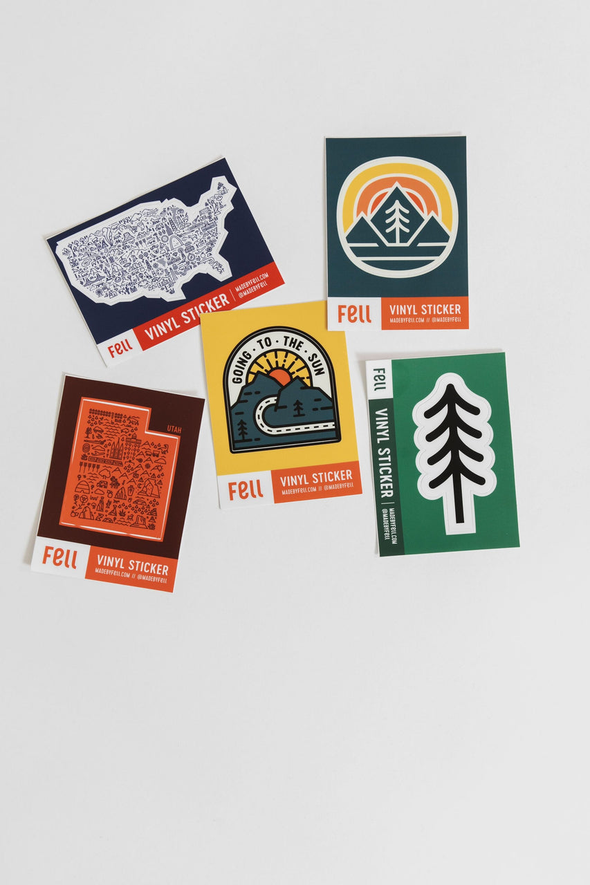 Fell Pine Tree Vinyl Sticker