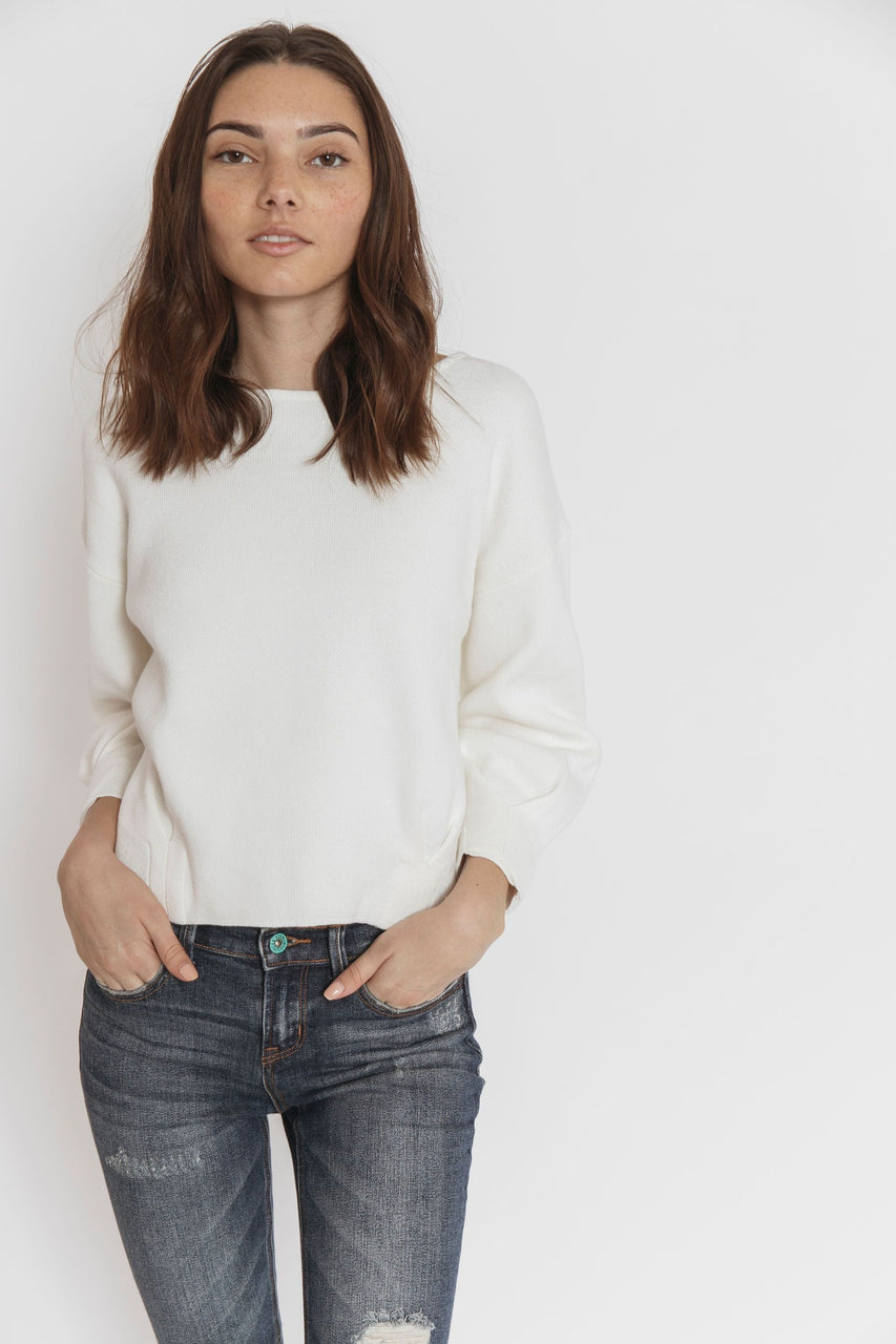 Gabby Sweater in Off White