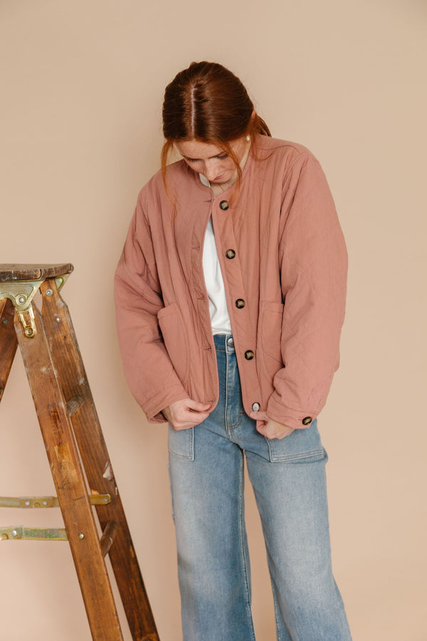 Gail Jacket in Clay