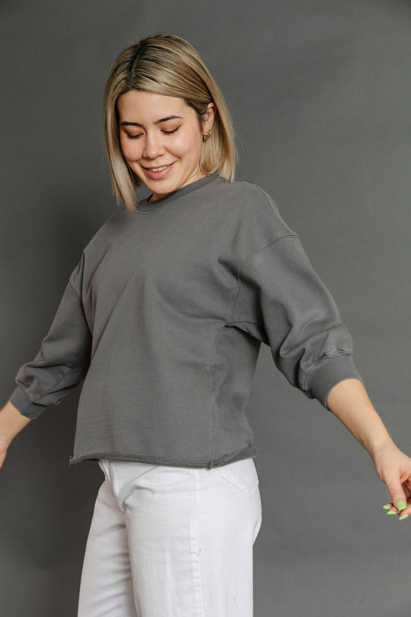 Gianna Sweatshirt in Charcoal