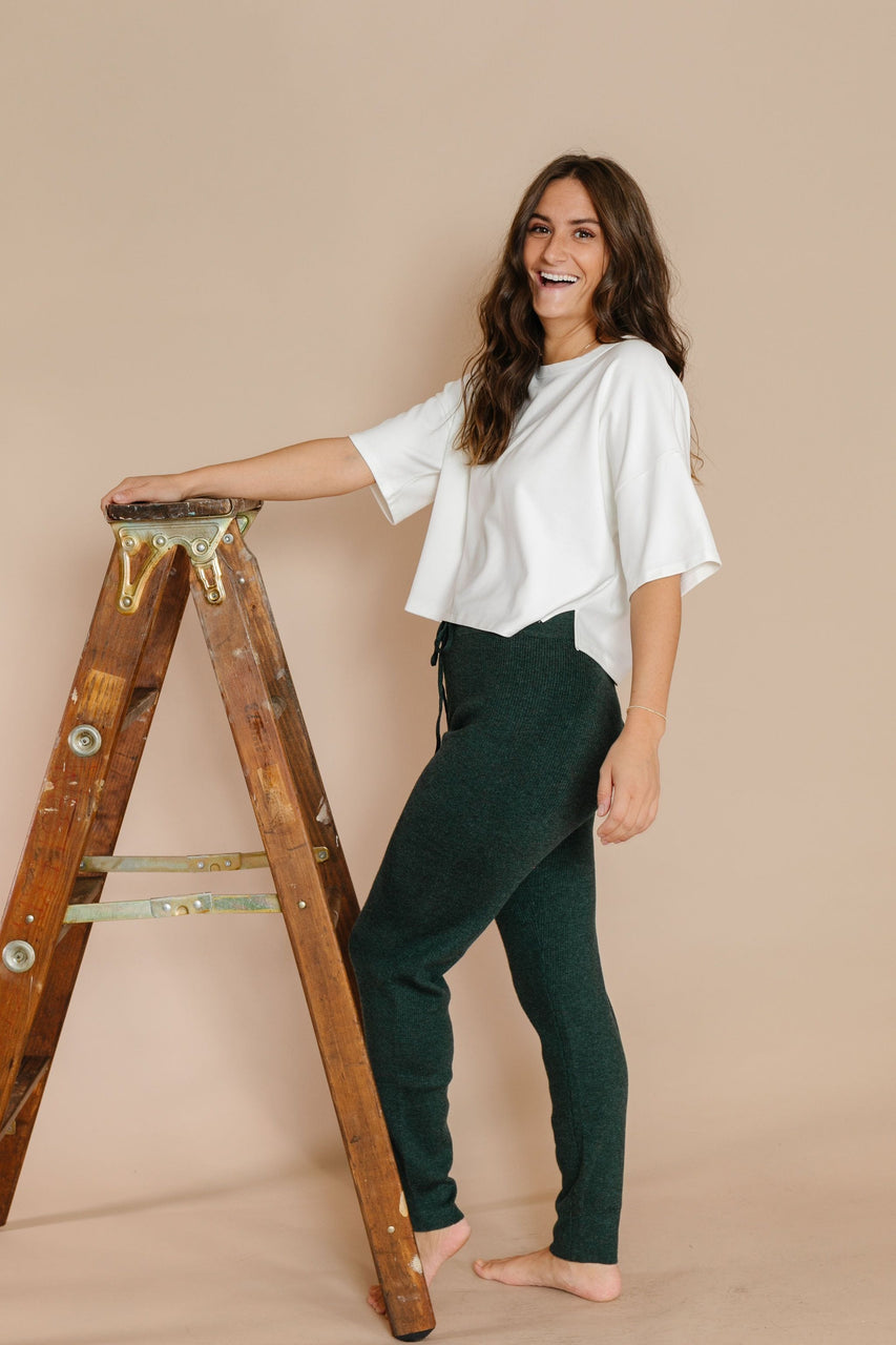 Hazel Jogger Pants in Evergreen