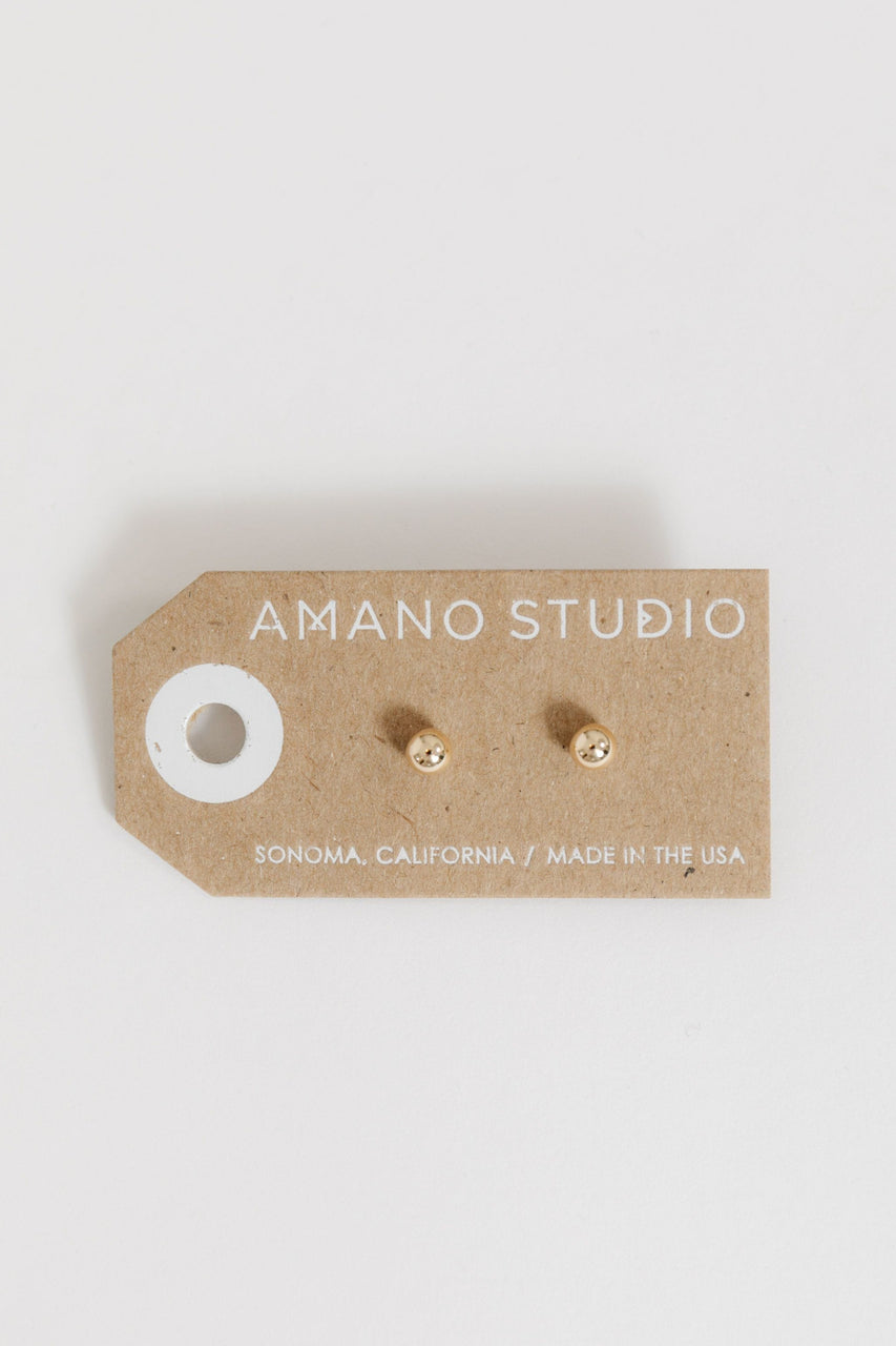 5mm Ball Stud Earrings By Amano Studio