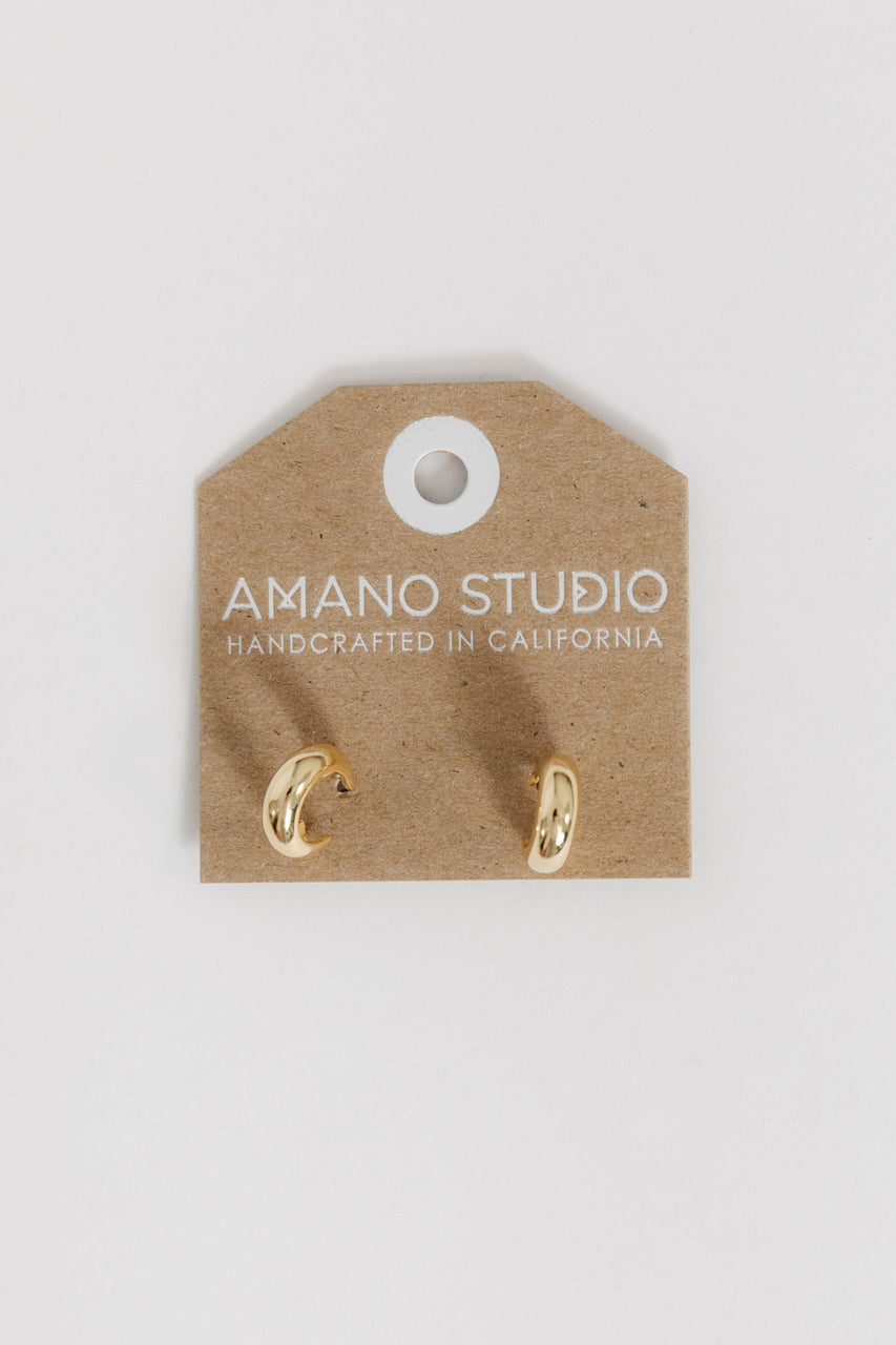 Demure Huggie Hoops By Amano Studio