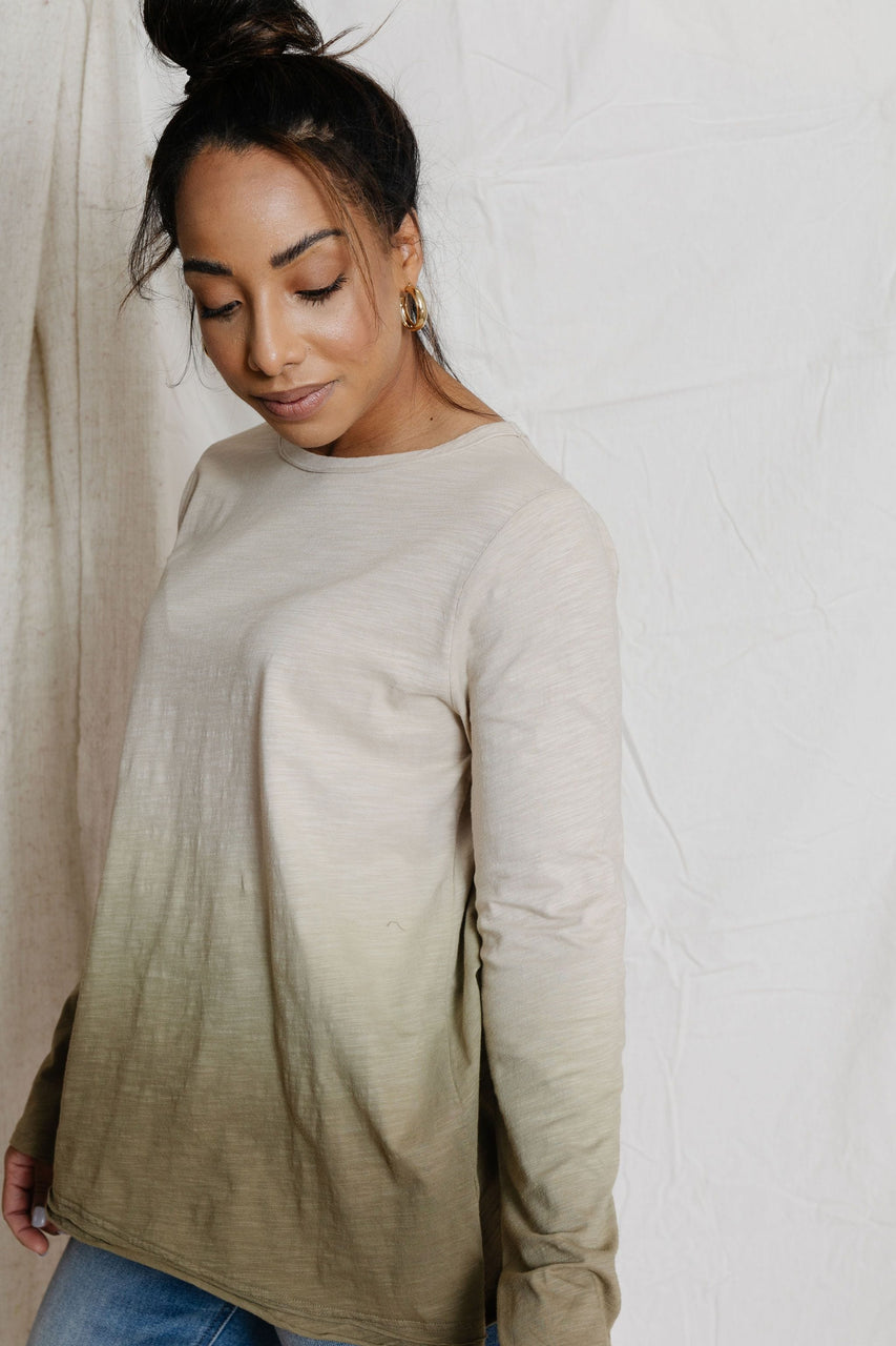 Jaclyn Tee in Faded Olive