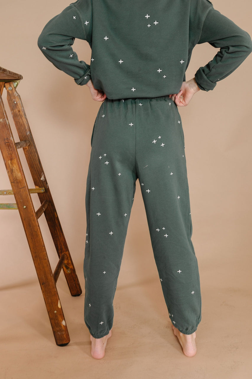 Janny Sweatpants in Vintage Teal