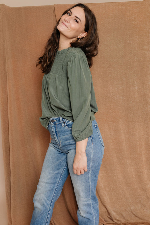 Jess Blouse in Olive