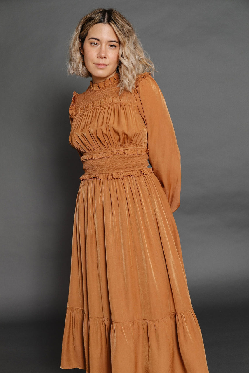 Jocelyn Dress in Dusty Camel