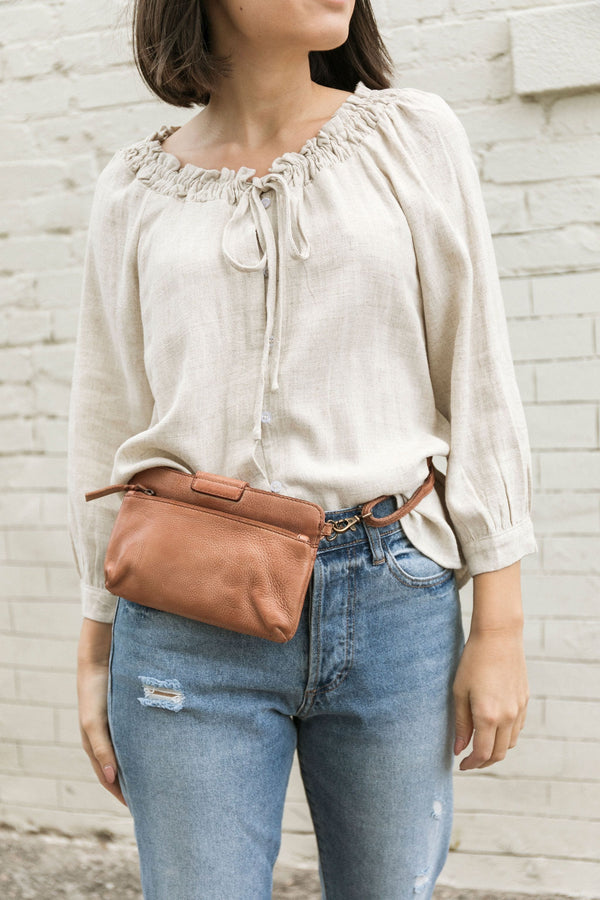 Kelly Crossbody in Cognac