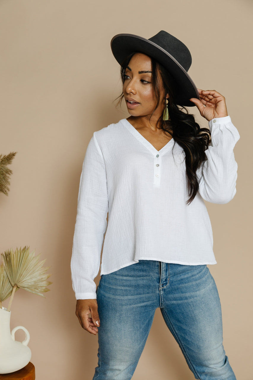 Kelsi Blouse in Off White