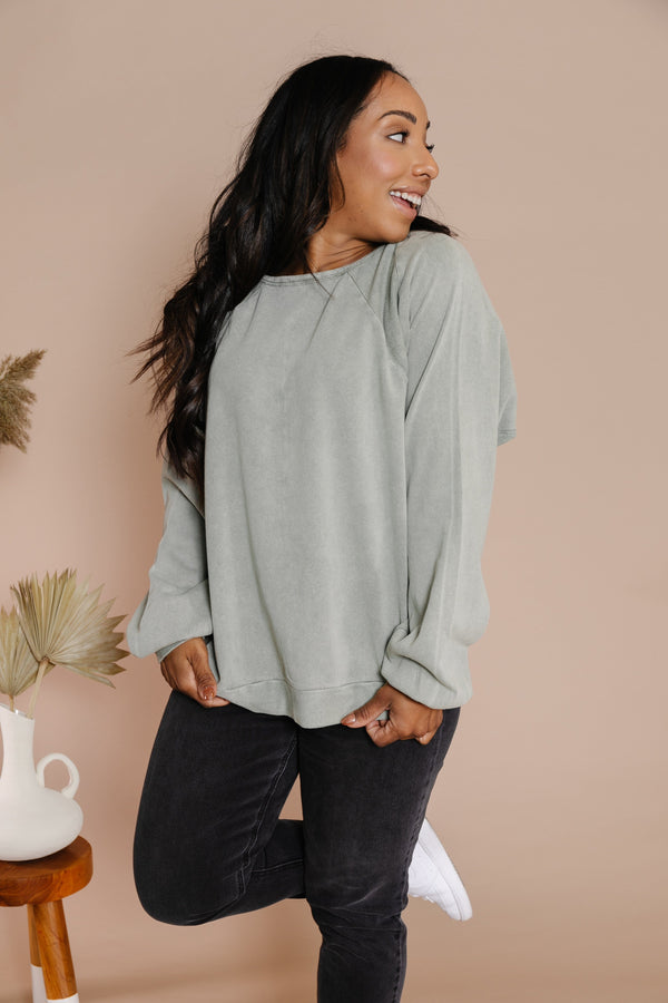 Kendra Tee in Faded Olive