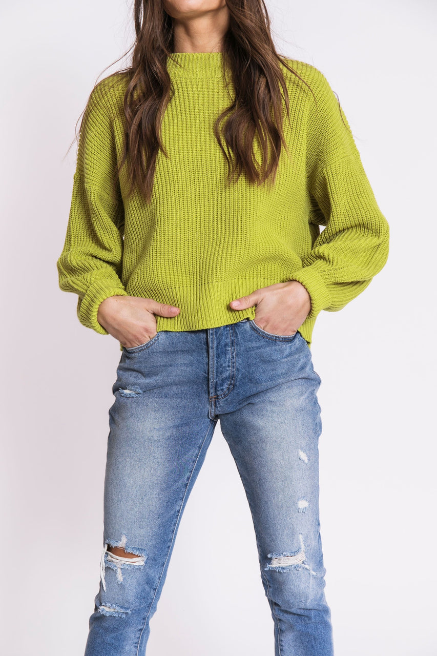 Citrus Sweater in Lime