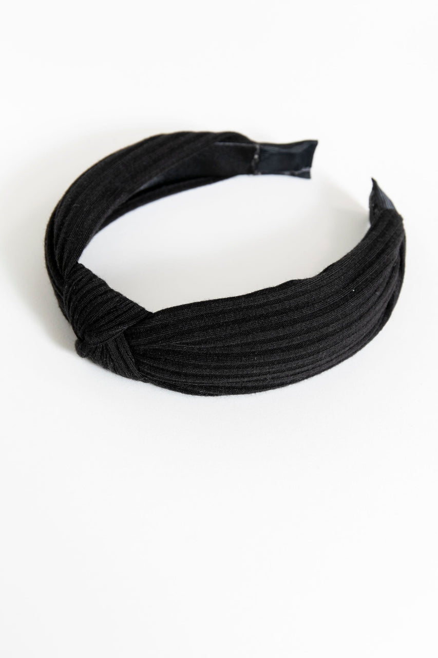 Knotted Headband Black