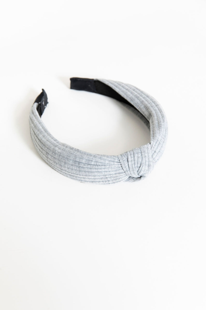 Knotted Headband Grey