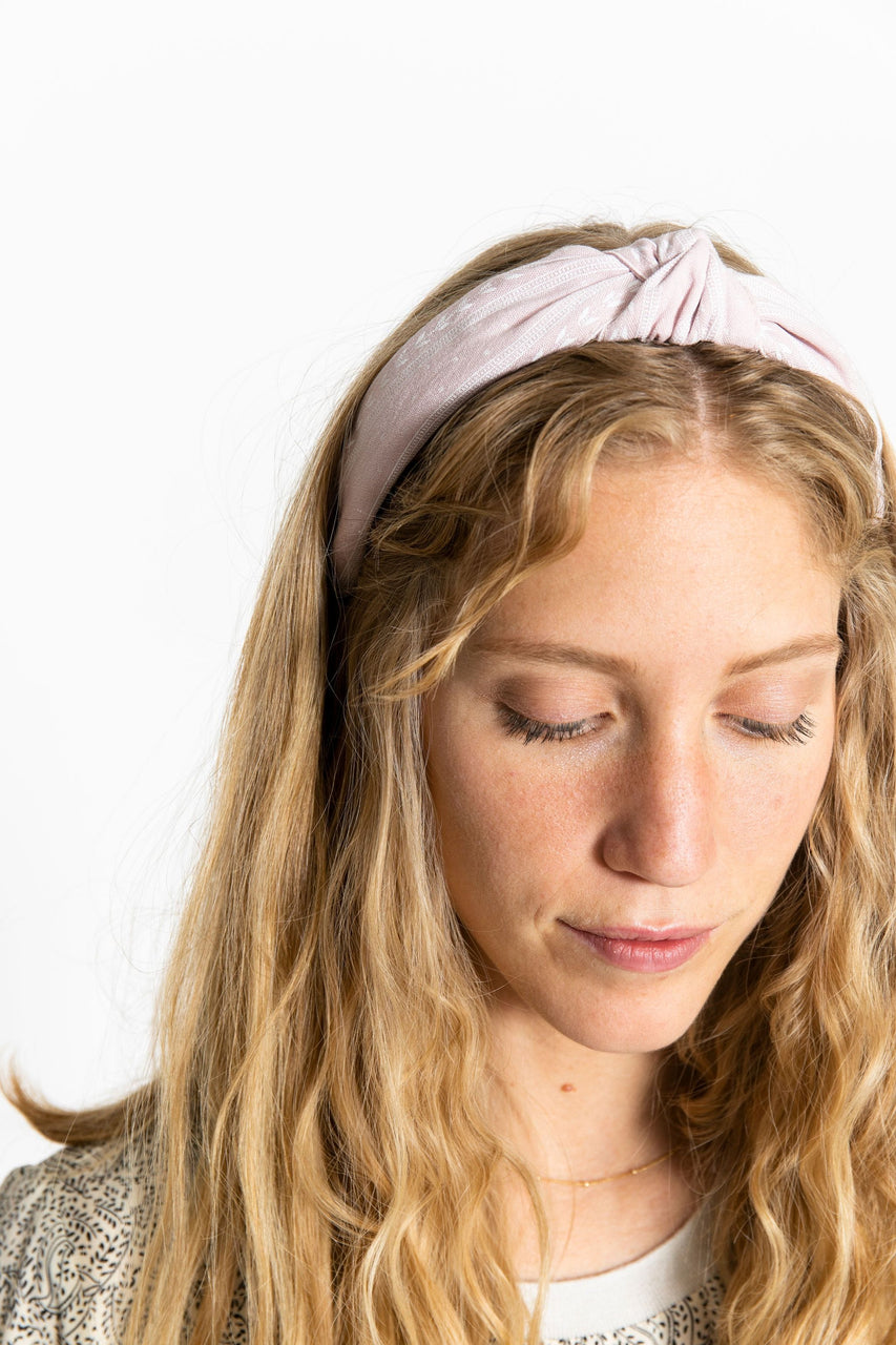 Knotted Headband Pink Pattern