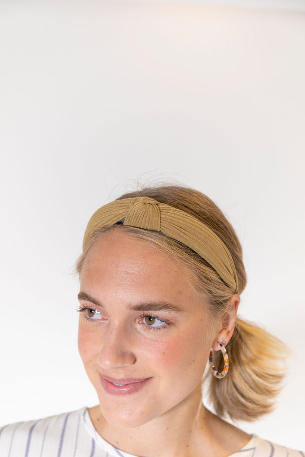 Knotted Headband Tan
