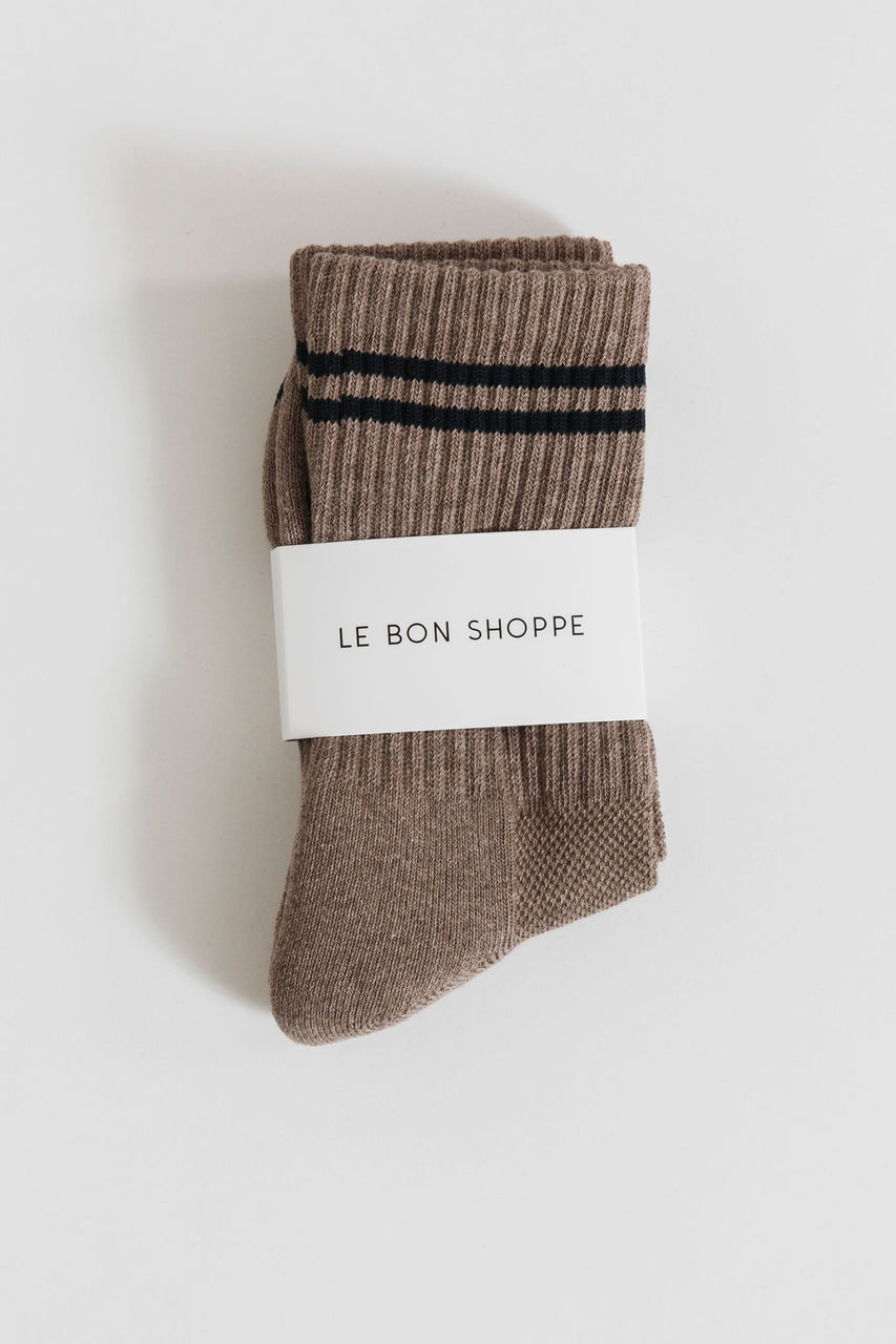Le Bon Boyfriend Socks in Cocoa