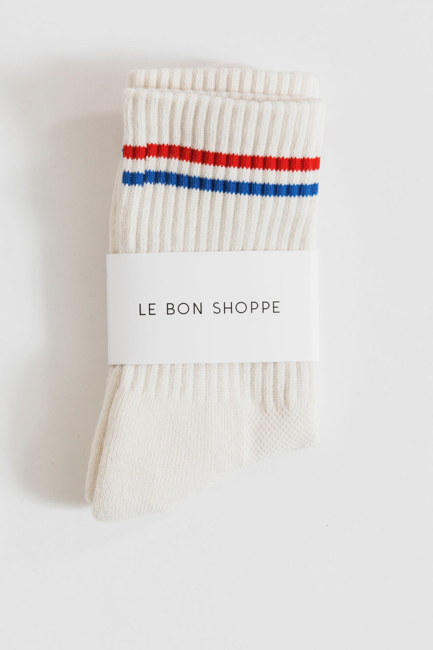 Le Bon Boyfriend Socks in Milk