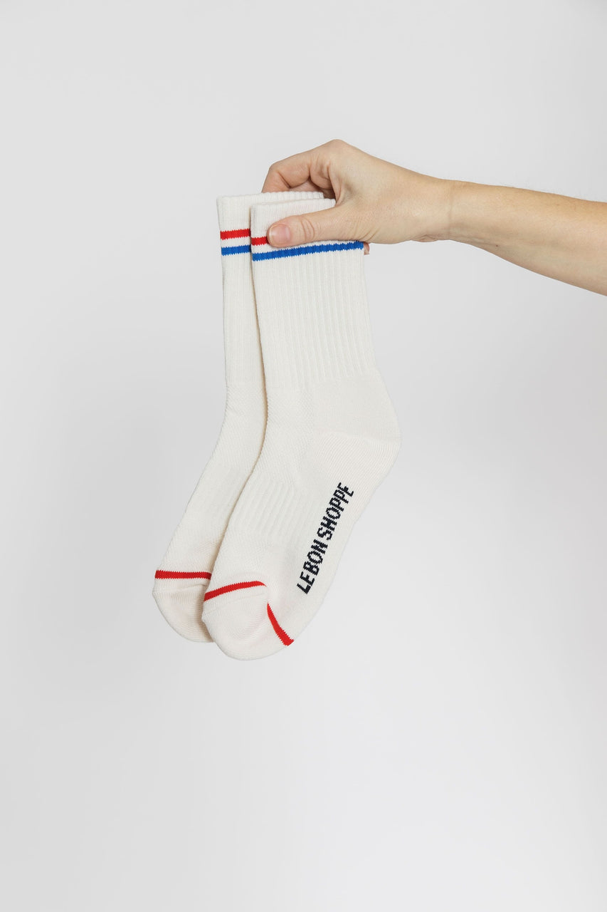Le Bon Shoppe Boyfriend Socks in Milk