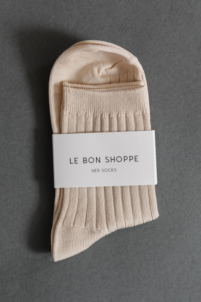 Le Bon Shoppe Her Socks in Porcelain
