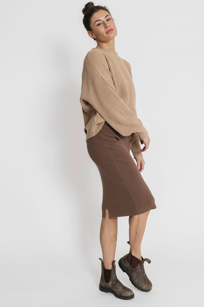 London Skirt in Cocoa