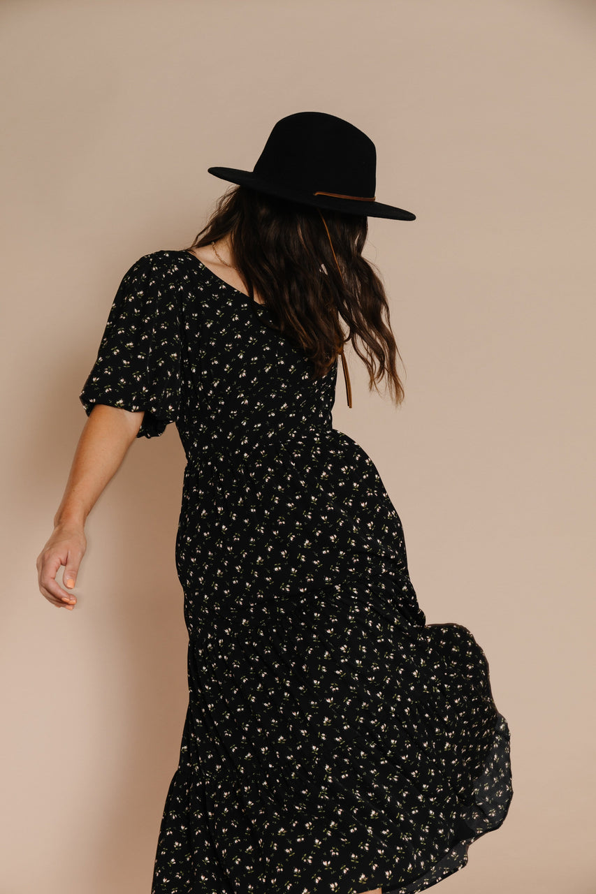 Lucy Dress in Black Floral