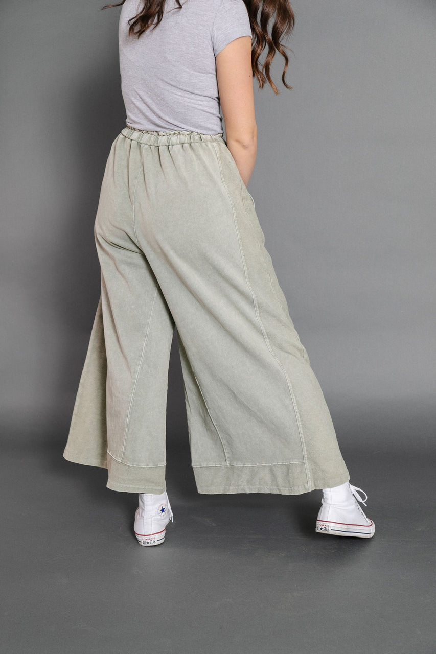 Madrid Terry Knit Pant in Faded Olive