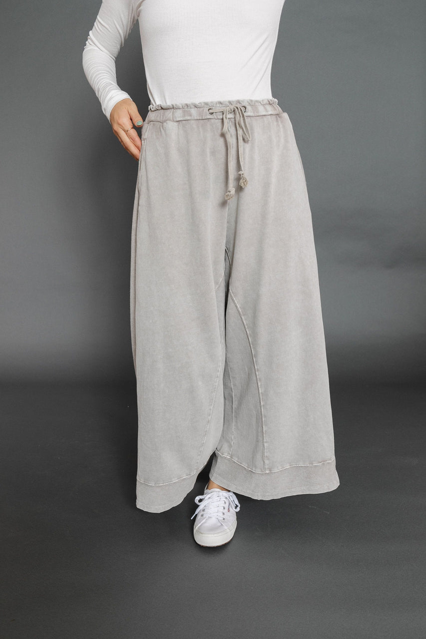 Madrid Terry Knit Pant in Khaki