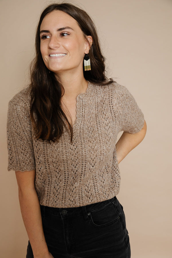 Nina Sweater in Mocha Combo