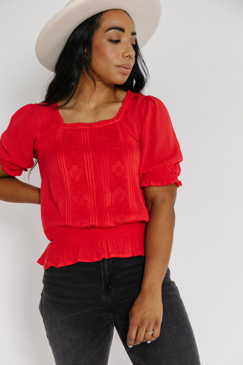 Remy Blouse in Chili