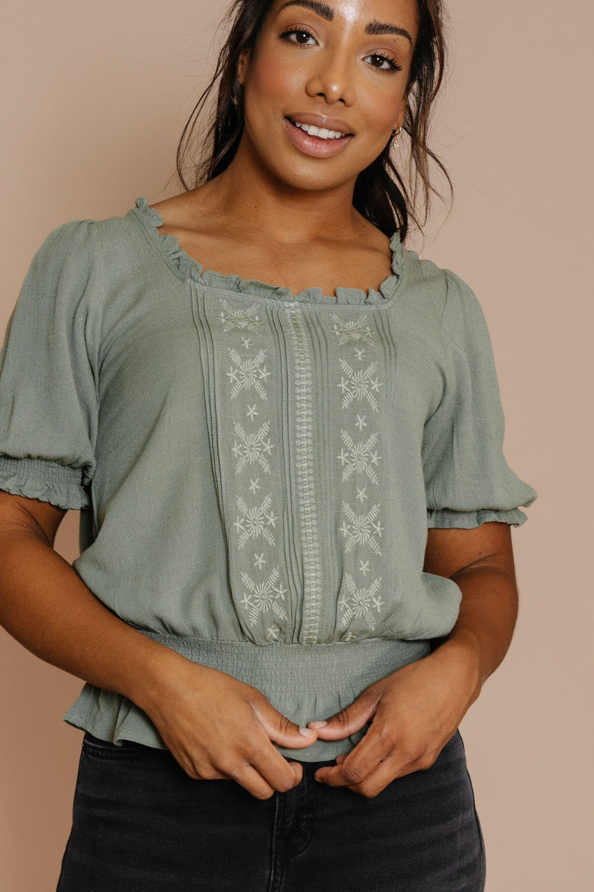 Remy Blouse in Dusty Olive
