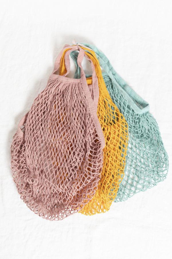 Reusable String Produce Bags in Bright