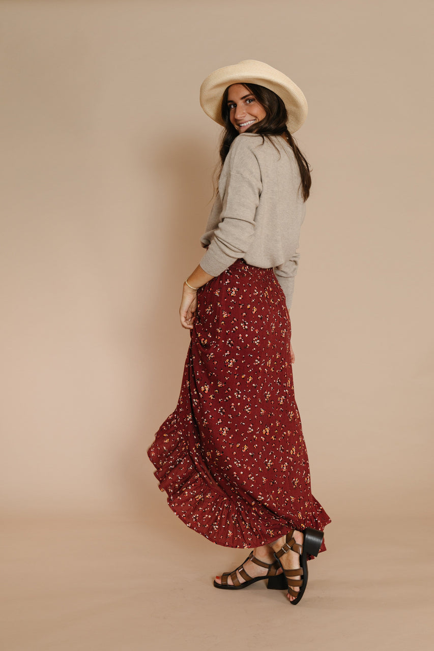 Robbins Skirt in Red Bean