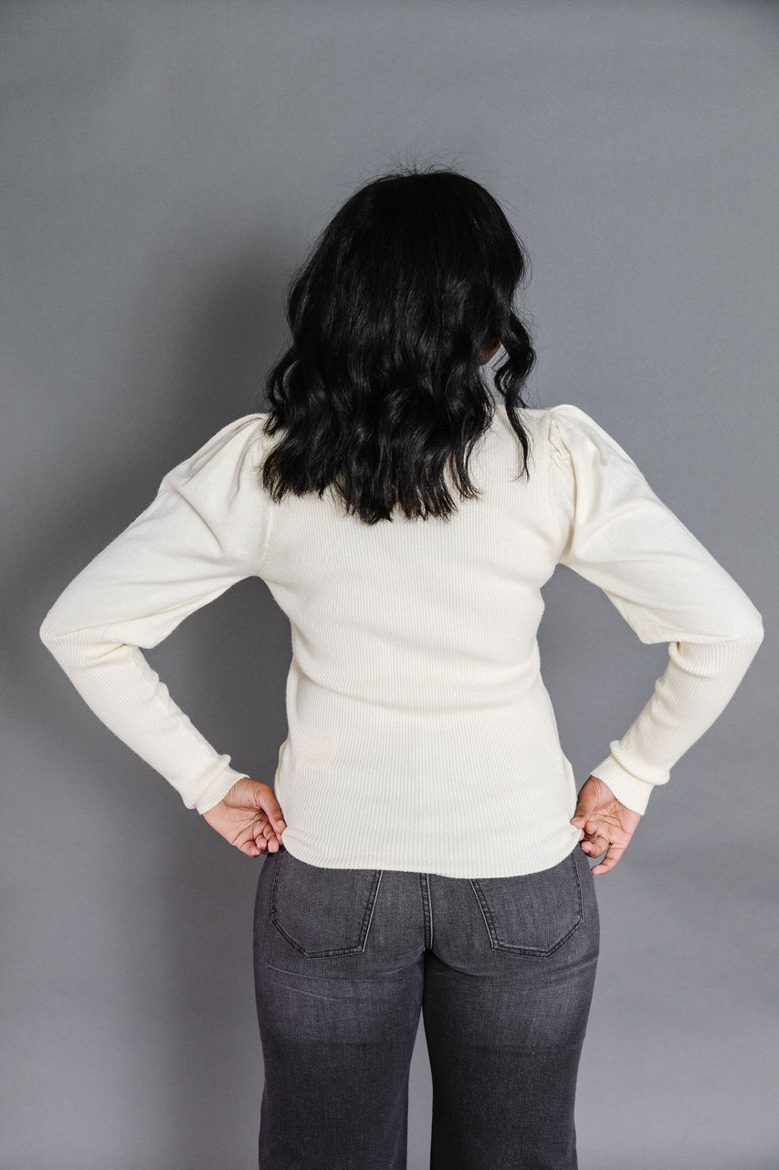 Rosalie Sweater in Ivory