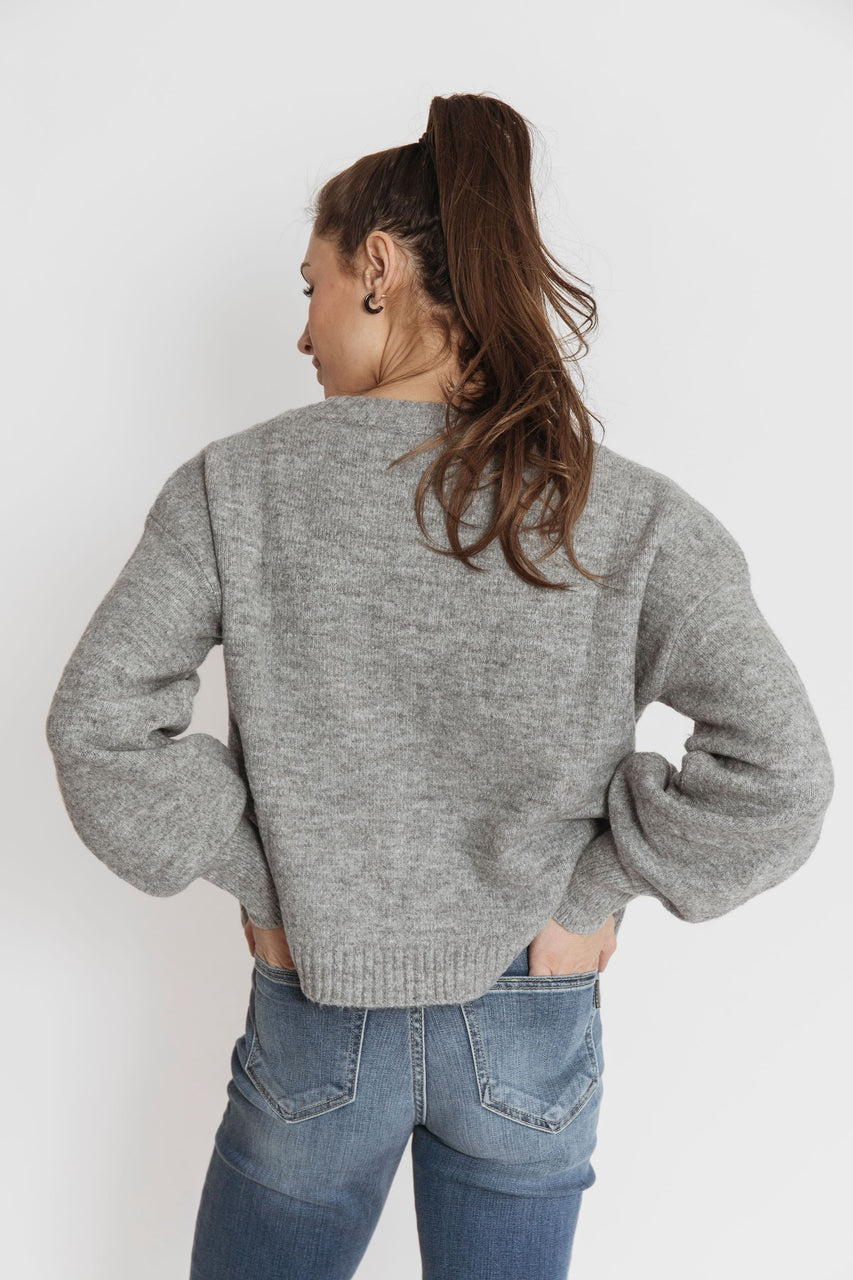 Rowena Cardigan in Heather Grey