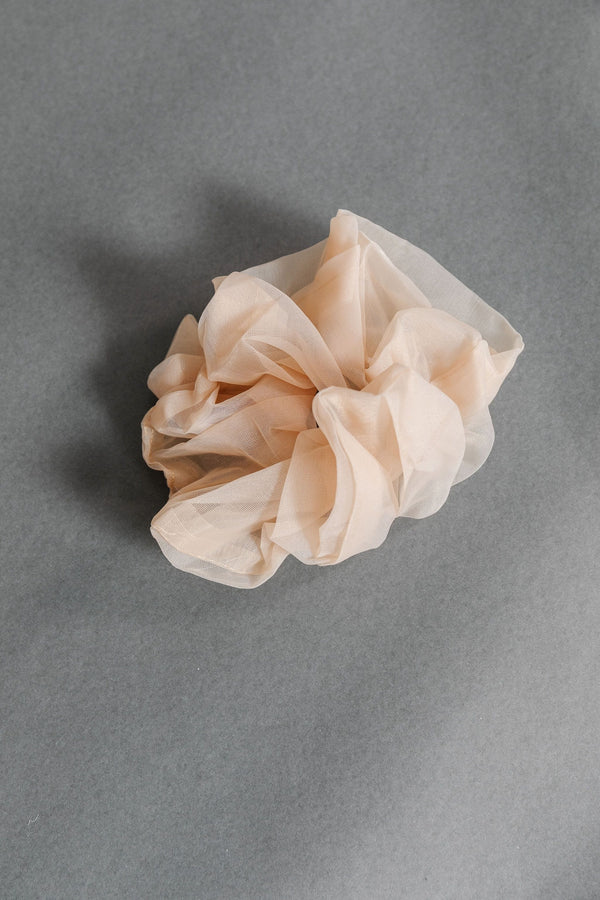 Sand Oversized Sheer Scrunchie
