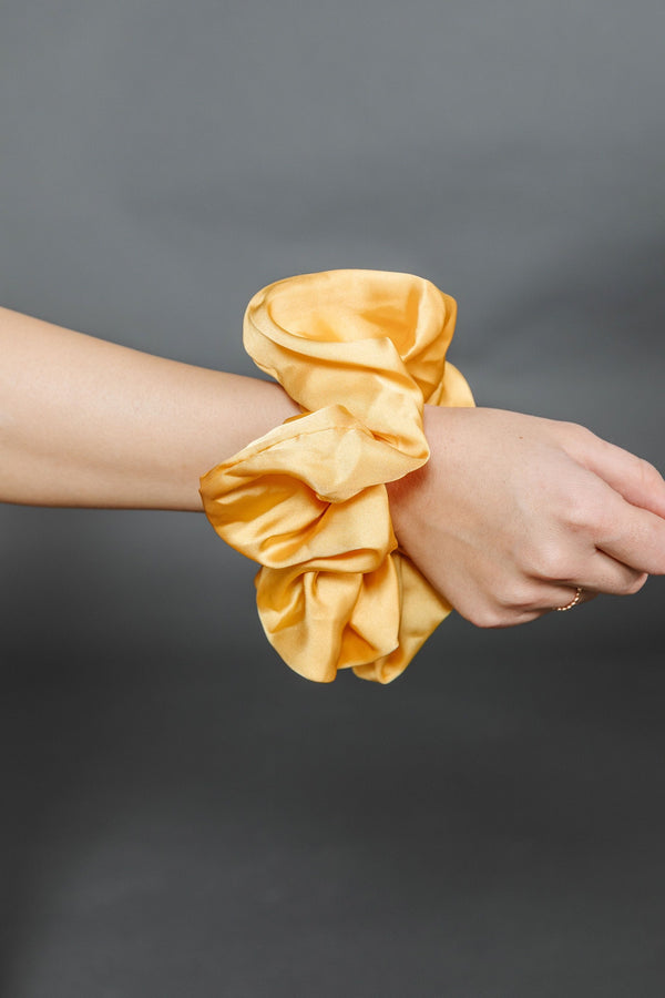 Yellow Oversized Silky Scrunchie