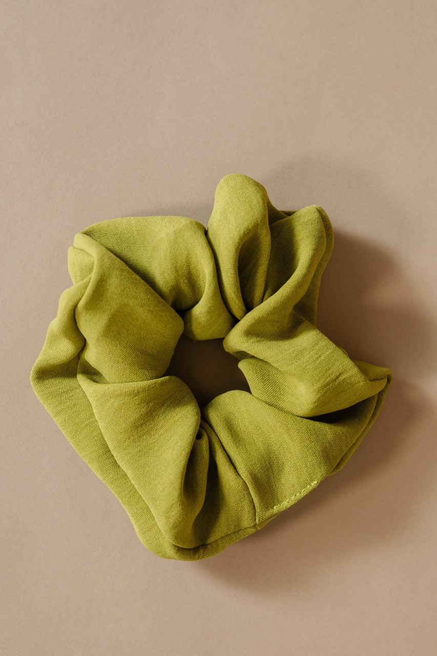 Yellow Green Scrunchie