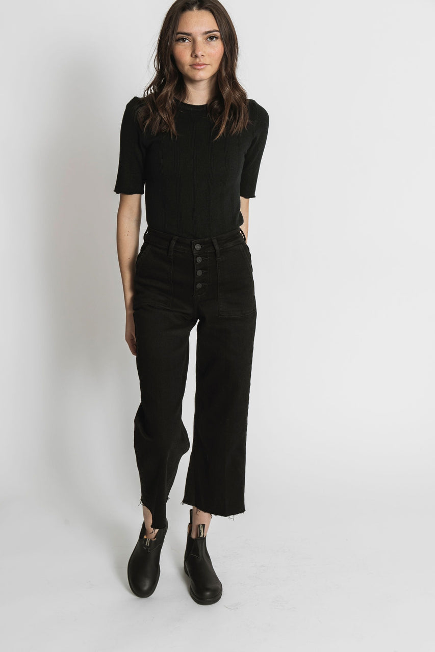 Shelby Cropped Denim in Black