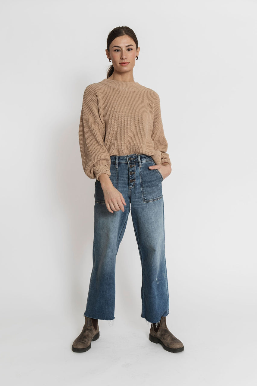 Shelby Cropped Denim Light Wash